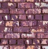 无缝的红色色的砖墙纹理 免版税库存图片