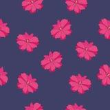 无缝的红色花纹花样 库存图片