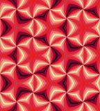 无缝的红色螺旋 几何模式 适用于纺织品,织品和包装 免版税库存照片