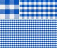 无缝的红色野餐桌布料样式 免版税库存图片