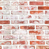 无缝的红色brickwall 库存照片