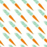 无缝的红萝卜样式 库存图片