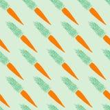 无缝的红萝卜样式 库存照片