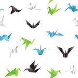无缝的纸鸟背景 图库摄影