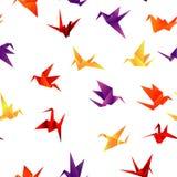 无缝的纸鸟背景 库存图片