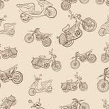 无缝的纹理与脚踏车的葡萄酒 免版税库存照片