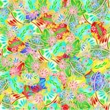 无缝的纹理各种各样的复活节彩蛋传染媒介 库存图片