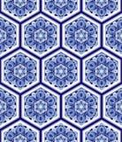 无缝的纹理向量 设计的美好的与装饰六角形元素的样式和时尚 免版税库存照片