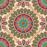 无缝的纹理向量 设计的美好的坛场与装饰元素的样式和时尚在种族印地安样式 向量例证