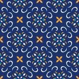 无缝的纹理向量 设计的美好的色的与装饰元素的样式和时尚 葡萄牙语,摩洛哥,土耳其语 免版税库存照片