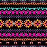 无缝的纹理向量 部族几何条纹图形 阿兹台克装饰样式 库存照片