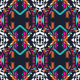 无缝的纹理向量 部族几何样式 电镀boho颜色趋向 阿兹台克装饰样式 免版税库存照片