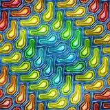无缝的纹理抽象发光五颜六色 免版税图库摄影