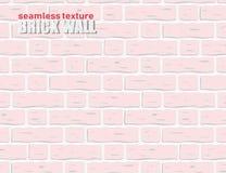 无缝的纹理样式浅粉红色的色的砖墙背景 10 eps 库存照片