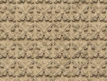 无缝的纹理浅浮雕,包括建筑装饰和装饰项目的各种各样的元素在混凝土 皇族释放例证
