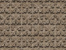 无缝的纹理浅浮雕,包括建筑装饰和装饰项目的各种各样的元素在混凝土 向量例证
