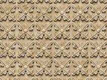 无缝的纹理浅浮雕,包括建筑装饰的各种各样的元素 向量例证
