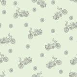 无缝的纹理脚踏车 免版税库存照片