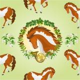 无缝的纹理花斑马传染媒介 免版税库存照片