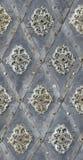 无缝的纹理被固定的金属花卉装饰 免版税库存图片