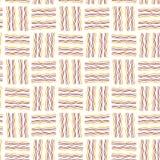 无缝的纹理 波浪线标志 黄色,橙色,褐色 库存例证