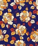 无缝的纺织品花卉样式 皇族释放例证