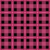 无缝的纺织品格子呢桃红色balck方格的纹理格子花呢披肩patte 免版税库存照片