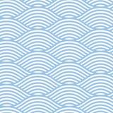 无缝的线波浪背景 免版税图库摄影