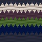 无缝的编织样式 库存照片