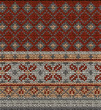 无缝的编织毛线衣样式 库存照片
