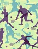 无缝的网球墙纸 库存例证