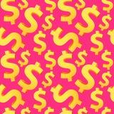 无缝的美元背景 免版税库存照片