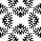 无缝的美好的黑波动图式 几何抽象的背景 适用于纺织品,织品,包装和网络设计 免版税库存照片
