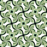 无缝的美好的绿色几何样式 适用于纺织品,织品和包装 免版税库存照片