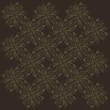 无缝的背景、抽象灰棕色、分支和叶子在白色背景 免版税图库摄影