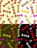 无缝的背景亚洲人字符 免版税图库摄影