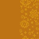 无缝的背景样式桔子 橙色看板卡 与橙色花的无缝的样式背景 图库摄影