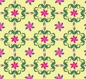 无缝的背景样式软的颜色植物群 图库摄影