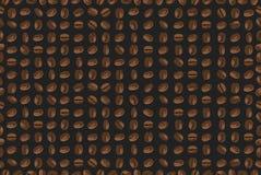 无缝的背景用咖啡豆 免版税库存图片