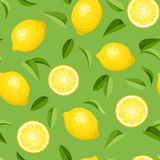 无缝的背景用柠檬。 向量例证