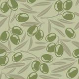 无缝的背景用橄榄 向量例证