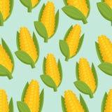 无缝的背景用玉米 免版税库存照片