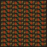 无缝的背景用花楸浆果 库存图片
