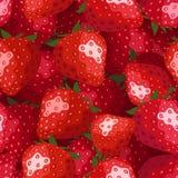 无缝的背景用草莓。 免版税库存图片