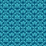 无缝的背景蓝色装饰品 免版税库存图片