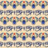 无缝的背景 埃及装饰品 免版税库存照片
