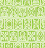 无缝的背景 绿色瓦片 库存图片