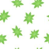无缝的背景绿色薄荷叶 免版税图库摄影