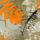 无缝的脏的叶子自然背景,秋天 库存照片