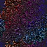 无缝的自行车样式 自行车 免版税图库摄影